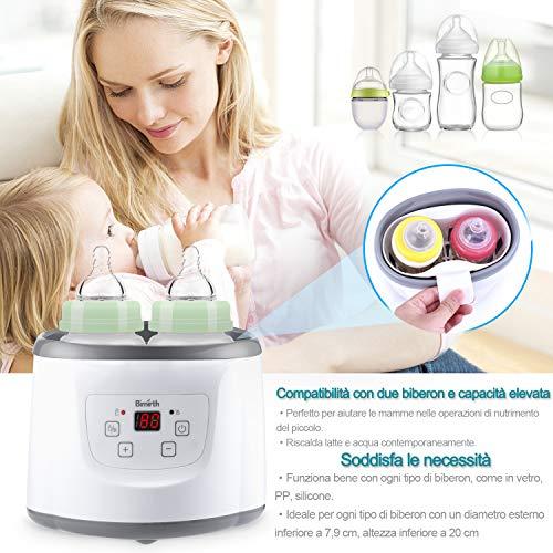 Baby Bottle Warmer Flaschenwärmer Flaschen Sterilisator 4 -in -1 Intelligenter Flaschenwärmer und Baby-Lebensmittel-Heizungsgerät für Muttermilch oder Babymilchpulver mit LCD-Echtzeit Anzeige Schnelle Erwärmung und genaue Temperaturkontrolle - 4