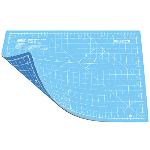 Schneidematte Selbstheilende A4 Doppelseitige 5 Schichten sassend für Kunst, Nähen - Imperial/Metric 11 x 8 Zoll / 29 x 21 cm Wahres Blau/Himmelblau