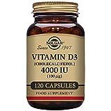 Solgar Vitamina D3 (Colecalciferol) 4000 UI (100 µg) Cápsulas vegetales - Envase de 120