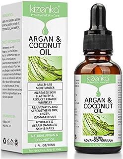 comprar comparacion kizenka Aceite de argán y coco para el cuidado de la piel, mejora la hidratación de la piel y aumenta la elasticidad de la...