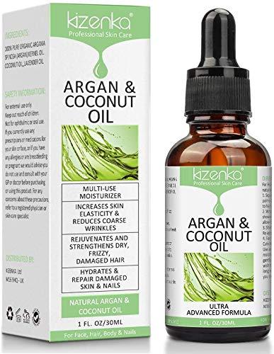 kizenka Aceite de argán y coco para el cuidado de la piel,