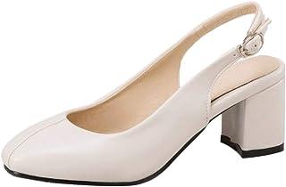 Kaizi Karzi Women Fashion Comfort Chunky Heel Slingback Court Shoes