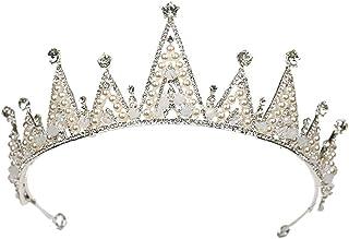 FELICILII Accessori for Abiti da Sposa Corona di Cristallo Bianco Corona Corona Accessori da Sposa Corona di Strass Corona