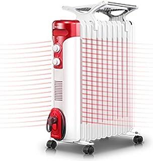 LLAMN Aceite eléctrica Llenado del radiador, Portátil habitación Completa Calentador de Espacios con termostato Ajustable (Tamaño: 53.3 * 27.8 * 63.6cm)