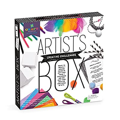 Craft-tastic – Artist's Box – Arts and Crafts STEAM Kit Includes 7 Creative Challenges