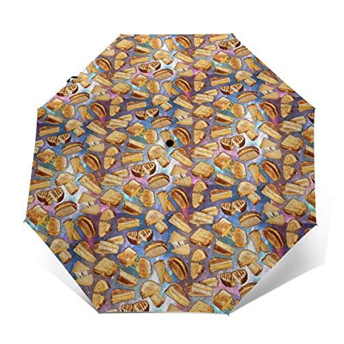 YUIJthDA Paraguas Plegable Compacto con diseño de Queso a...