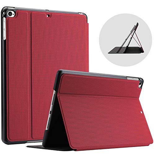 ProCase Funda para 9.7' iPad 6 2018 / iPad 5 2017 / iPad Air 2 2014 / iPad Air 1 2013 Modelos Viejos, Carcasa Delgada Protectora de Tipo Folio, Cubierta Inteligente - Rojo