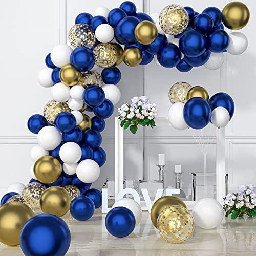 VAINECHAY Arco Globos Kit Guirnalda Globos Decoracion Globos Confeti Latex Azules para Niño Baby Shower Decoración Cumpleaños Bautizo Boda Comunion Fiesta