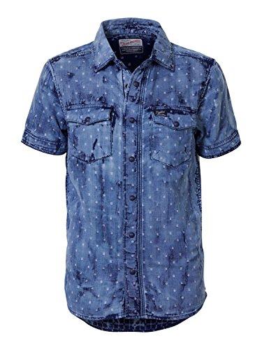 Petrol Industries - Jungen kurzarm Hemd gemustert Used-Look, hellblau B-SS17-SIS468,Größe 140