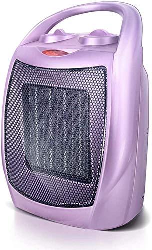 Calefactor Pequeños electrodomésticos eléctricos chimenea, calefacción portátil del ventilador del calentador de cerámica con termostato ajustable y del recalentamiento Pe.(Color: Púrpura), Color: Pla
