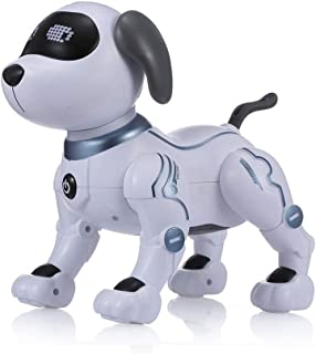 Goolsky- Electronic Pets Robot Dog Stunt Dog Voice Command Programmable Touch-sense Music Song Toy for Kids Birthday LE NE...