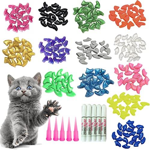 YMCCOOL 100pcs Cat Nail Caps/Tips Pet Cat Kitty Soft Claws...