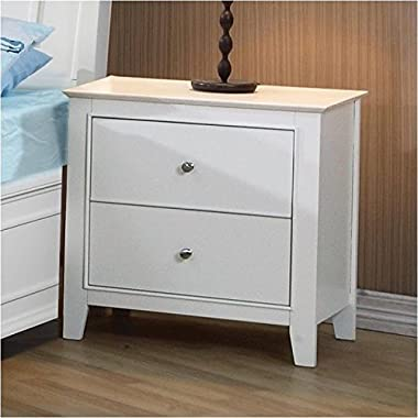 Coaster Home Furnishings Transitional Nightstand, White