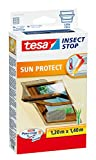 tesa Insect Stop Sun Protect - Mosquito Nets (1200 x 10 x 1400 mm, ABS sintéticos, Plata, 454 g)