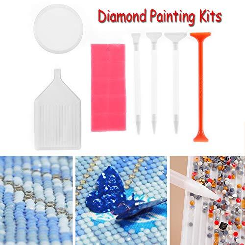 Babettew Werkzeugkoffer für schnelles Werkzeug, quadratisch, rund, Platte aus Kunststoff, Kreuzstich, Stickerei, Stift 5D, Diamant-Malerset