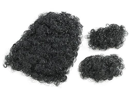 Infactory Accessori per costume: toupet di peli per il petto, ricci, con basette incluse (travestimento per Halloween, festa, carnevale, Oktoberfest)
