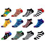 WeciBor Calcetines cortos Hombre Estampados Hombres Ocasionales Calcetines Divertidos Impresos de Algodón de Pintura de Arte Calcetines Verano Tobillo Calcetines de Colores de moda (ESB052-01)