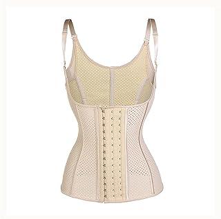 صدرية مطاطية 100% قابلة للتنفس مشد الخصر للتنحيف للجسم وتهيئة الجسم ملابس داخلية للنساء (اللون: مشمش، المقاس: كبير