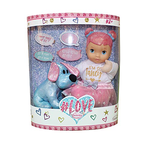 Rocco speelgoed pop liefde 34cm met interactieve hond kleur gesorteerd 21290838