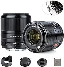 VILTROX 23mm F1.4 Auto Focus APS-C Frame Lens for Fuji X Mount, STM Motor Internal Focus Large Aperture Portrait Fixed Focus Lens for Fujifilm Camera X-A2 X-M1 X-A20 X-T3 X-T100 X-H1 X-Pro2 X-Pro3