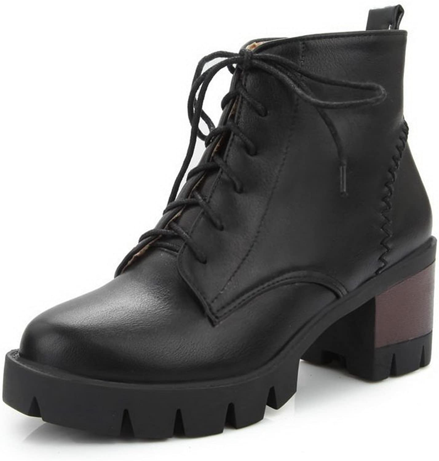 A&N Girls Business Platform European Style Imitated Leather Boots