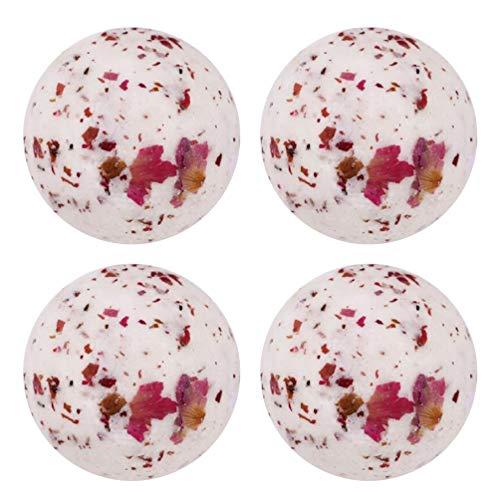 Minkissy 4Pcs Bombes de Bain Set Bain Fondre Cadeau pour Anniversaire Mariage Valentines Day Fête Des Mères