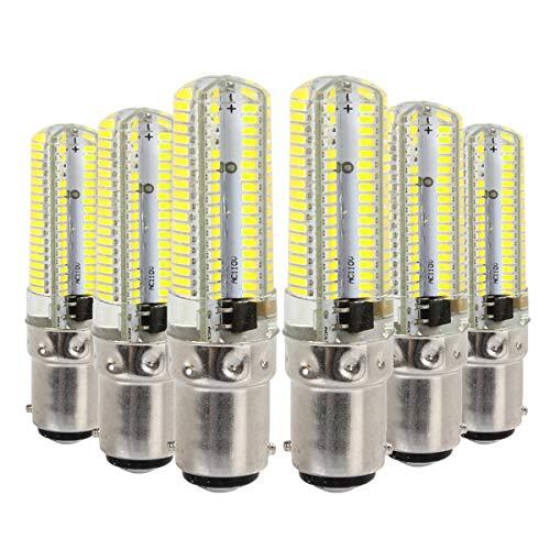 Bijenkorf bulb afzuigkap 6 PCS Corn Bollen YWXLight BA15D 7W AC 110-130V 152LEDs SMD 3014 energiebesparende LED siliconen Lamp lamp maïs e14 led bulb (Size : Cold White)