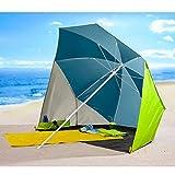 TRI Sonnenschirm-Muschel, Sonnenschutz, Strandmuschel, Strandschirm, Picknickschirm, Taschenschirm, XXL-Sonnenschirm, Campingbedarf, UV 30+, Polyamid, Ø 200 cm