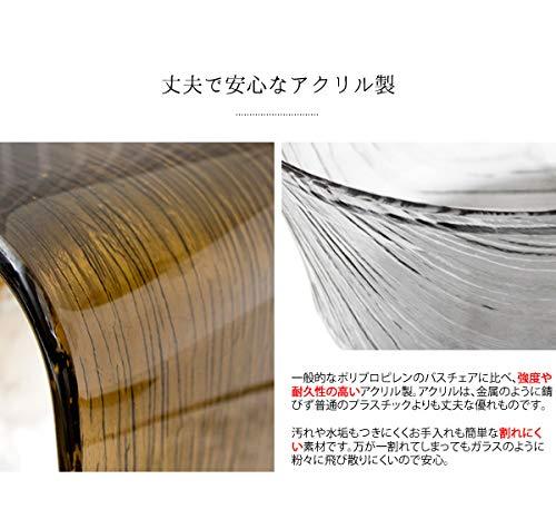 宮武製作所バスチェアブラウンバスチェア:幅32×奥行き21.5×高さ25cm、バスボウル:幅28×奥行き27×高さ9cm、ハンドペール:幅29×奥行き16.5×高さ8cmRay(レイ)BCOS-320BR