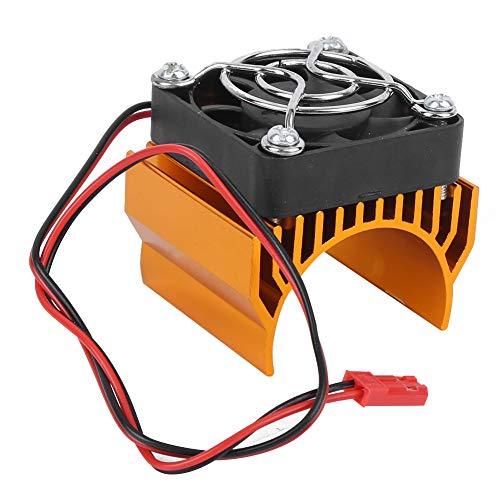 VGEBY Enfriador de disipador de Calor, 36 mm de diámetro 540/3650/3660/3670 Disipador de Calor del Motor con Ventilador para el disipador de Calor del Motor del Coche RC 1/10(Oro)