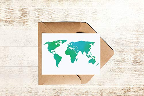 Postkarte Weltkarte | Reise Karte Welt