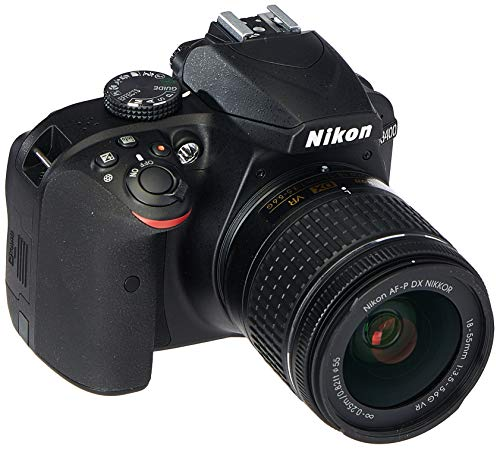Nikon D3400 Digital SLR Camera & 18-55mm VR DX AF-P Zoom Lens (Black)...