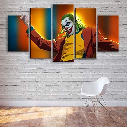KOPASD 5 Piezas de Arte de Pared - Impresión Lienzo Pintura - Personajes de la película de Superhero - Pinturas de la Etiqueta de la Pared - HD Escena Pared Arte Pintura -100x55cm