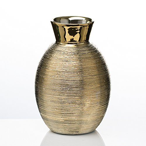 Richland Vase Elegant Ceramic Gold 6.5'