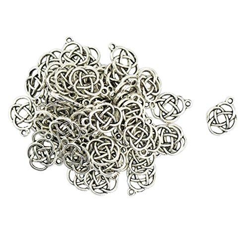 B Blesiya 50 colgantes de Hal, accesorios para manualidades, joyas unisex