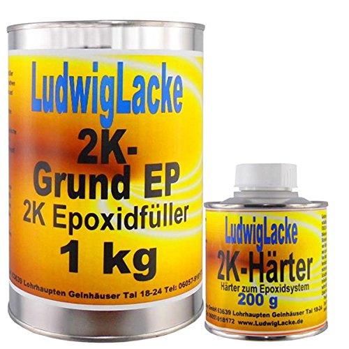 Ludwig Lacke Epoxidfüller 1,2 kg Epoxifüller Rostschutz Grundierung