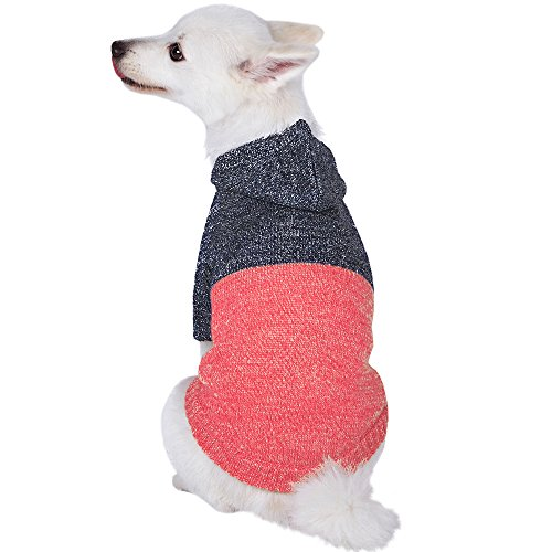 Blueberry Pet Winter Symphony Marled Color-Block...
