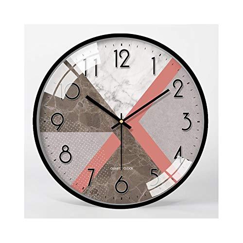 XMBT Reloj de Pared Decorativo,Despertador Luminoso Mudo con Pantalla Digital Reloj de Pared de Cuarzo Moderno silencioso Despertador Digital Multifuncional Relojes de cabecera sin tictac