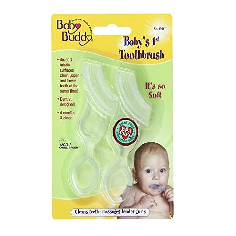従事するマティスパークBaby Buddy Baby's 1st Toothbrush 2ct (Clear)