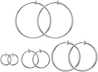 Wilk Boucles doreilles en acier inoxydable forts magn/étiques Boucles doreilles non perc/ées clip Diamond zircon Plug-8mm 6 paires pour la d/écoration de loreille