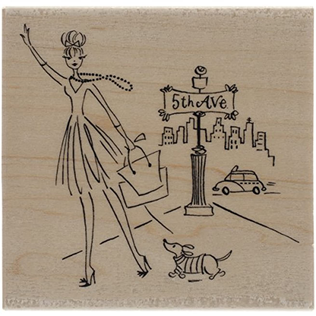 Penny Black 4390K 5th Ave Wood Mounted Rubber Stamp