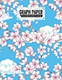 Graph Paper Composition Notebook: Grid Paper Notebook, Quad Ruled, 100 Sheets, Size 8.5' x 11'   Cherry Blossom Cover Design by Rafael Linke