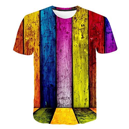 JCDZSW Spaß T-Shirt Sport Casual Herrenkleidung Sommer Straße Psychedelic Mito 3D Druck Rundhals Kurzärmeliger T-Shirt Pullover 03-5XL