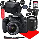 Canon EOS 2000D DSLR Camera w/ 18-55mm F/3.5-5.6 III Lens + 32GB SD Card + More