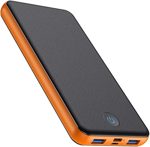 VOOE Powerbank 26800mAh PD 18W QC 3.0, Type-C Caricabatterie Portatile con 2 ingressi e 3 uscite da 5V 3A Ricarica Rapida Batteria Esterna Portatile per iPhone Samsung Galaxy Huawei Smartphone-Arancia