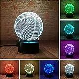 Lampe d'illusion de football de couronne impériale 3D créative LED veilleuses, lampe de fête...