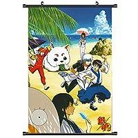 銀魂アニメ巻物ポスター家の装飾漫画の壁アート壁画ファンがギフトを集める 19.7x29.5inch/50x75cm