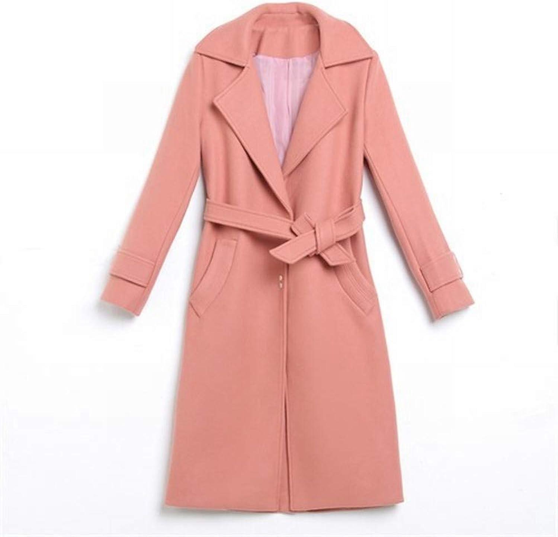 Coat Jacket, Woolen Coat, Winter Decoration, Waist, Slim, Temperament, Fashion, Casual, Knee Length, Woolen Coat, Women's Coat PLLP