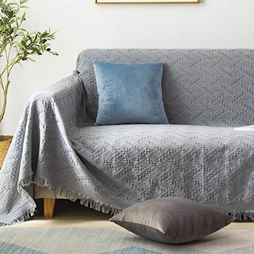 Manta de algodón de punto a cuadros, toalla de oficina, chal de ocio, aire acondicionado, manta para colgar en el sofá, tapiz decorativo