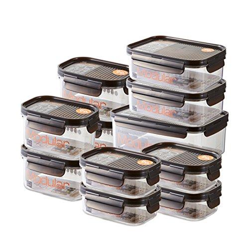 LOCK & LOCK Vorratsdosen 11er Set BISFREE, bpa frei & luftdicht - Frischhaltedosen mit Deckel für Kühlschrank, Tiefkühler & Mikrowelle geeignet